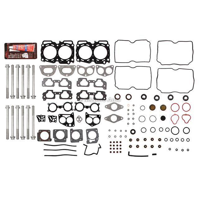 Full Gasket Set Intake Exhaust Valves Fit 04-09 Subaru 2.5L SOHC EJ253