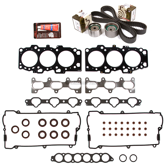 Details about Head Gasket Set Timing Belt Kit Fit 01-03 Hyundai Santa Fe  Kia 2 7 DOHC G6BA