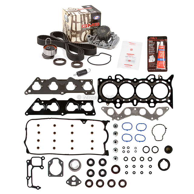 Timing Belt Kit Replacement For Honda Civic 2001 to 2005 1.7 LX DX EX WATER PUMP TIMING BELT TWO DRIVE BELTS VALVE COVER GASKET SET SEALS TENSIONER AND SPRING