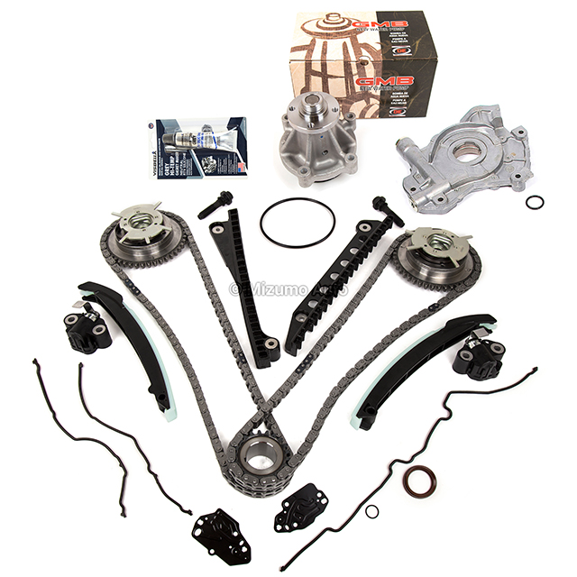 Timing Chain Kit Cam Phaser Oil Water Pump Fit 04-10 Ford