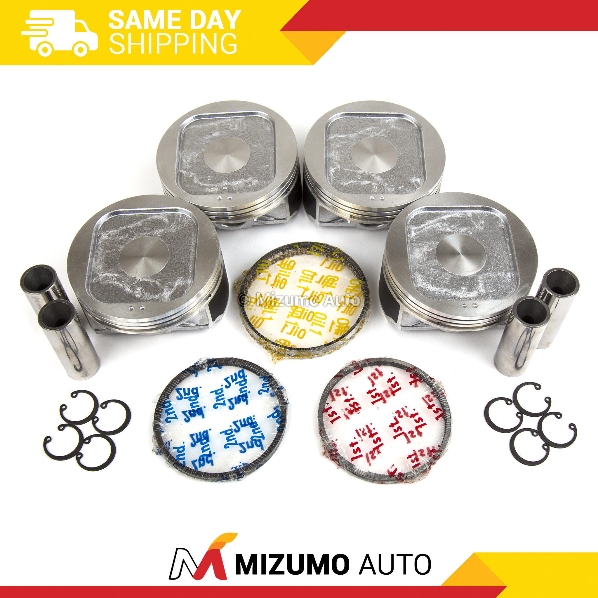 Pistons W Rings Std Fit 97 99 Subaru Forester Legacy 25l Dohc 1998 Outback Misfire Image Is Loading